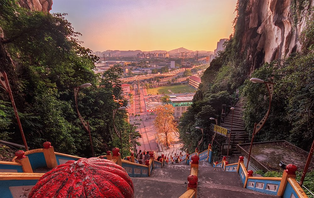 Climbing 272 Steps of Batu Caves