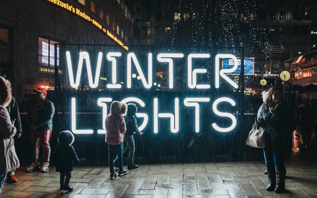 Winter Lights—Canary Wharf, England