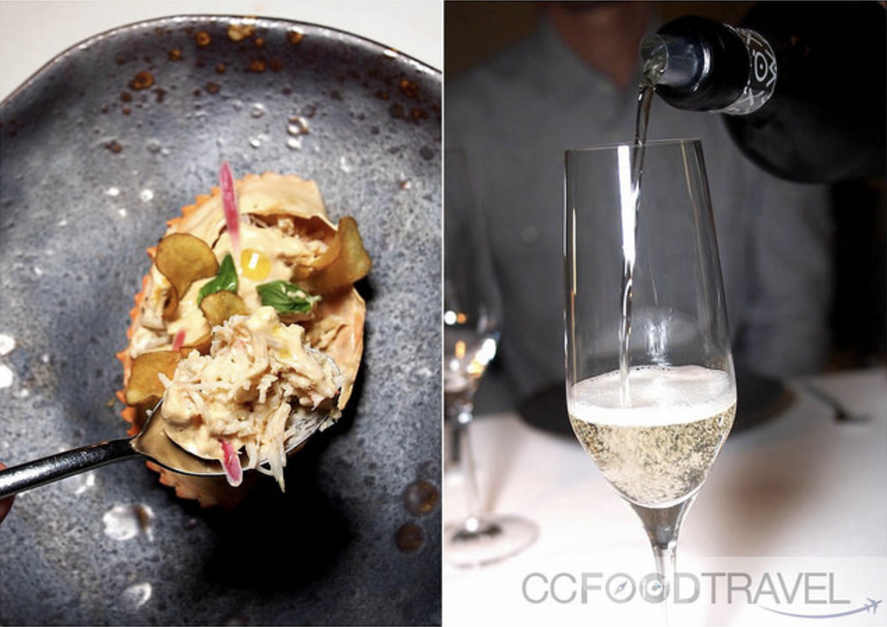 ccfoodtravel stuffed crab and prosecco