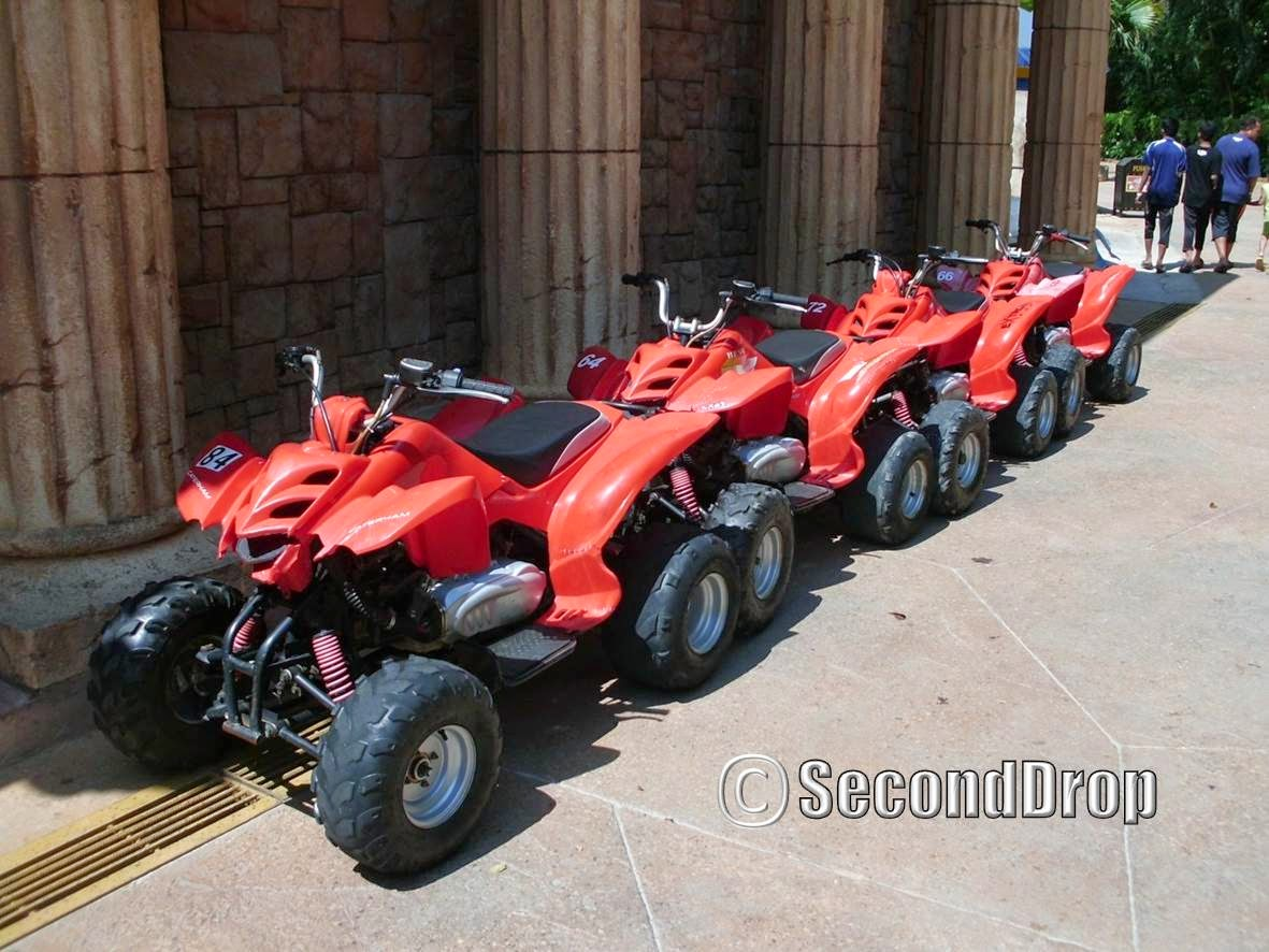 There are only 6 ATVs for guests so the queue moves painfully slow